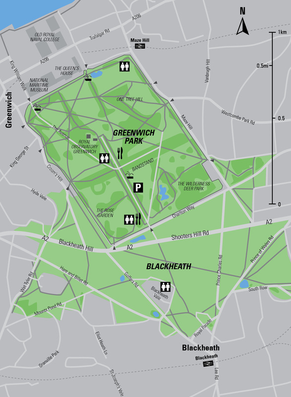Greenwich Park Map Run Greenwich Park & Blackheath   Runner's Guide to London